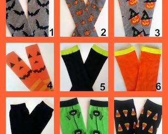 Halloween Leg Warmers, CHOOSE ONE PAIR, Baby Legwarmers, Pumpkin Legwarmers, Witch Legwarmers, Halloween Legs, Spider Legwamres, Legwarmers