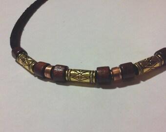 Men's Tribal necklace Tibet beads handmade artisen  Beads