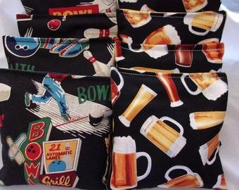 8 ACA Regulation Cornhole Bags -  Sports Bowling and Beer Mugs