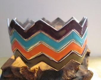 Chevron /Zig Zag  Bracelate
