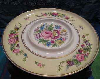 Beautiful floral,gold rimmed serving dish.