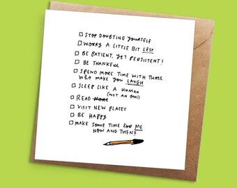 Checklist Greeting Card