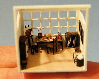 1/144th inch scale miniature-Artist Studio