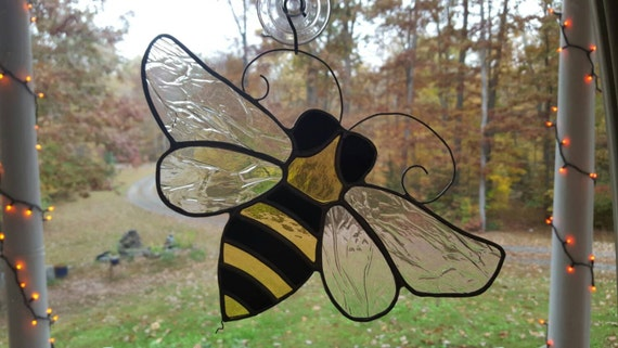 Stained Glass Honey Bee