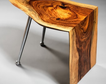 Atomic Rosewood Accent Waterfall Live Edge Table