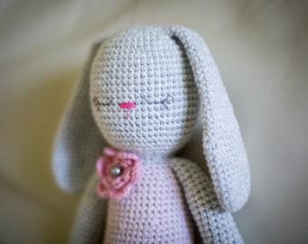 Handmade Crochet Bunny Rabbit Stuffed Toy