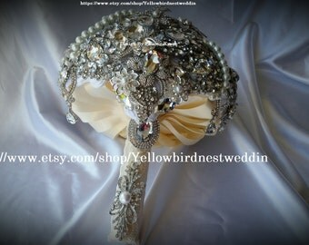 Brooch Bouquet, silver bouquet brooches, brooch bouquet bridal