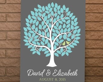 Wedding Guest Tree, Wedding Sign Book, Wedding Guestbook, Wedding Guest Book, Wedding Tree Sign, Up To 120 Guest Signatures, 16x20 Size