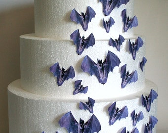 wedding cake toppers halloween cake topper edible bats set of 24 diy cake decor