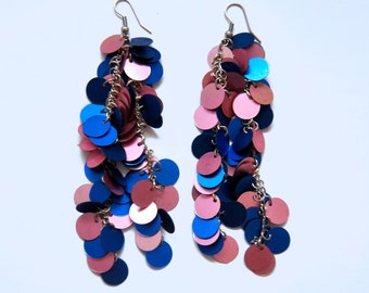 Blue Waterfall Earrings