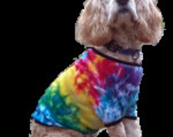 Spiral Tie Dye Dog Shirt American Apparel