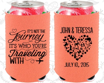 Its not the Journey (C454) Its who your traveling with, Neoprene Wedding, Destination, Neoprene Wedding Favors