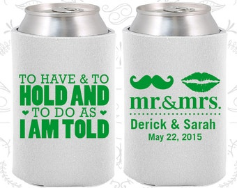 White Wedding, Can Coolers, White Wedding Favors, White Wedding Gift, White Party Decor (91)