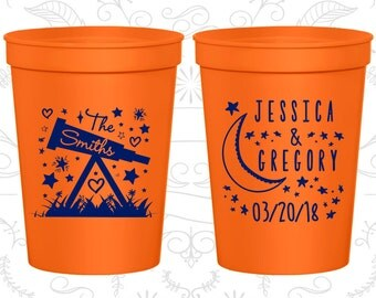 Orange Stadium Cups, Orange Cups, Orange Plastic Cups, Orange Party Cups, Orange Wedding Cups (255)