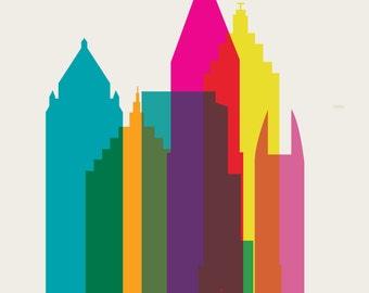 Shapes of Atlanta art print