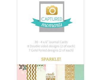 Kaisercraft Captured Moments Double-Sided Journal Cards 4x6 Sparkle