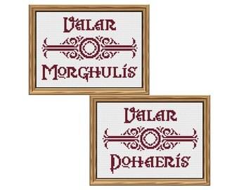 """pattern duo: """"Valar Morghulis, Valar Dohaeris"""" [Game of Thrones]"""