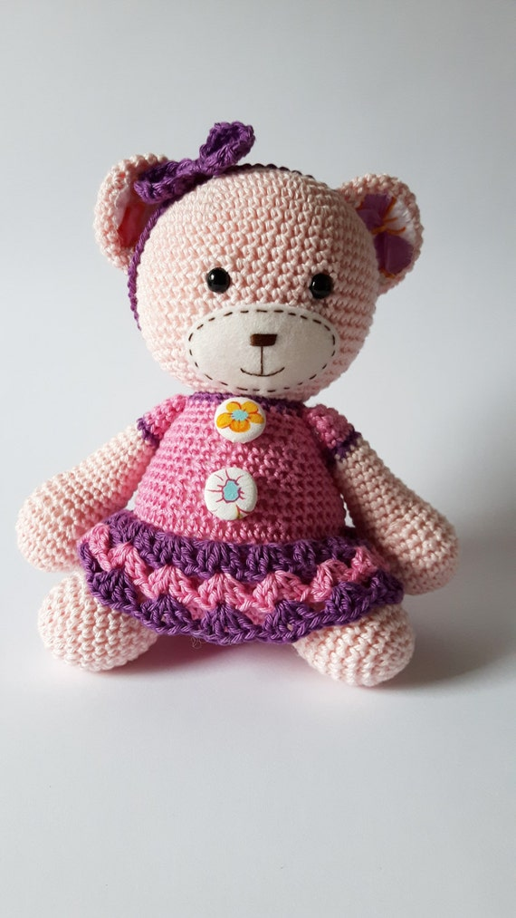 Amigurumi Little Teddy Bear : Items similar to Amigurumi Teddy Bear, (Smugly-Bear ...