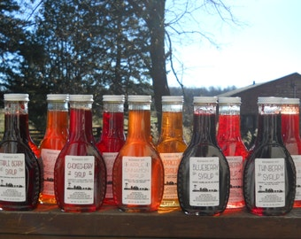 Homemade Fruit Syrup - Fresh Fruit Syrup - Pancake Syrup - Ice Cream Topping - Gift for Dad - Mother's Day Gift - Gift for Grandpa