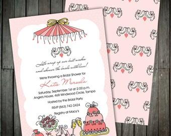Bridal Parasol - Fun Bridal Shower Invitations