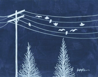 I Hope They Call Me on a Mission - birds on a wire