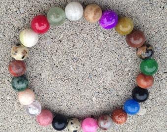MIXED STONE ENERGY 10mm Gemstone Bracelet Custom Made-to-Order