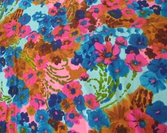 Hawaiian Bark Cloth 6 yds Mid Century Fabric Bark cloth Abstract Floral Fabric Hawaiian Fabric 1960's Fabric Multicolor 6 Yards