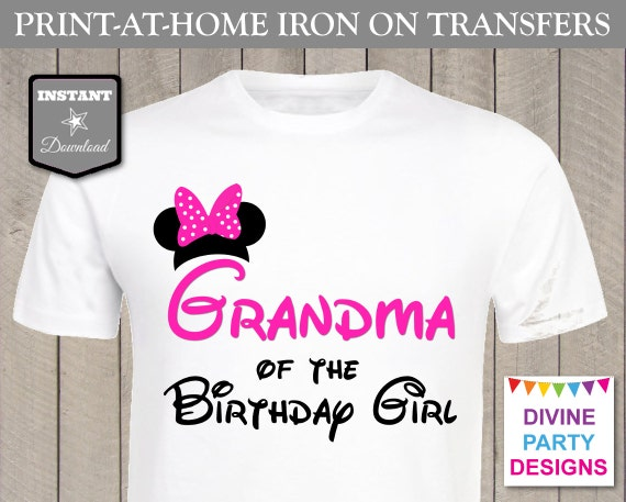 Instant download print at home hot pink mouse grandma of for Instant t shirt printing