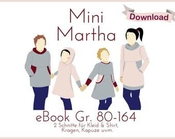 "E-book dress shirt ""Mini Martha"" Martha for children - pdf pattern dress / hoodie for kids"