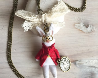 White Rabbit Pendant