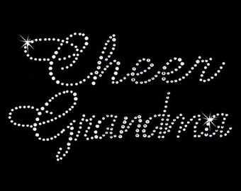 Rhinestone Transfer - Hot Fix Motif - Cheer Grandma - Large