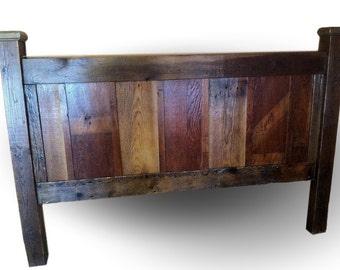 Reclaimed Barn Wood Headboard with mixed patina