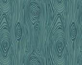 Teal Wood Grain Cotton Fabric - 1/2 Yard - Riley Blake - Knock On Wood - Deena Rutter  C5431-TEAL - Teal Blender Quilting Fabric