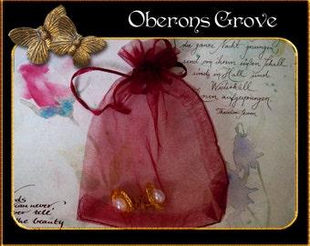 10 Organza bags dark red 10x12cm