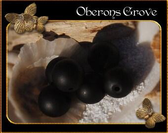 10 black agate beads 10mm