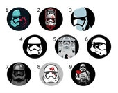 Stormtrooper Pins - Star Wars Buttons - Stormtrooper Magnet - 1 inch pin, magnet, or button - Star Wars, the Force Awakens, Episode VII