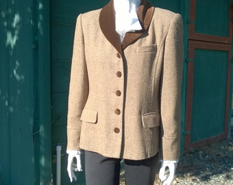 Vintage Brown Tweed Whipper Jacket