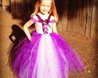 FALL SALE 15% OFF Tangled Dress, disney tangled, rapunzel, rapunzel dress, rapunzel costume, disney princess dress, disney dresses for girls