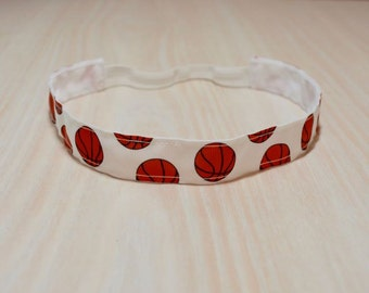 Non-Slip Headband - Basketball, White