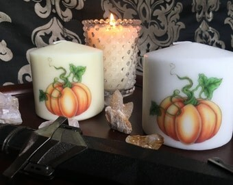 Unscented Pumpkin Pillar Candle // 3x3