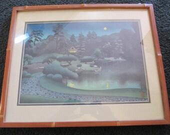"1951 Japanese Woodblock print titled ""Summer"", by Bakufu Ohno!!"