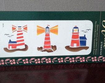 light house border stencil
