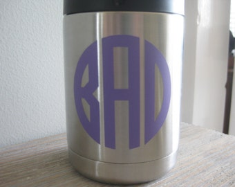 Yeti Monogram Decal - Monogram Yeti Decal - Monogram Decal - Yeti Colster Decal - Yeti Decal - Monogram Yeti Decal - Yeti Monogram - Yeti