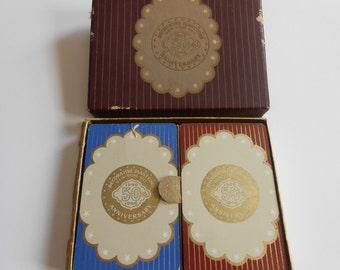 Vintage Decorative Plant Corp 1896 - 1946 Complete Decks Playing Cards Original Box