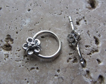 Sterling Silver Toggle Flower