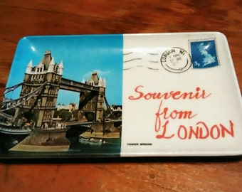 Vintage Souvenir From London Tower Bridge Tray