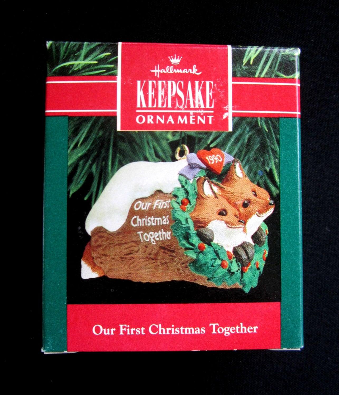 Hallmark 1990 Keepsake Our First Christmas Together Ornament