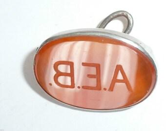 Antique Intaglio Seal Fob monogram initials A E B