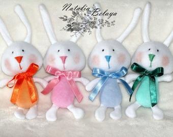 Cloth toy. Bunny toy. Plush toy. Stuffed animal toy. Rag doll. Soft toy. Plush bunnies. Birthday gift. Baby shower gift. Gift for children.
