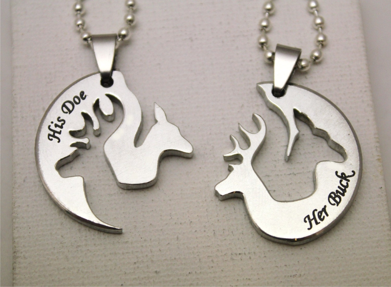 buck and doe necklace for boyfriend by